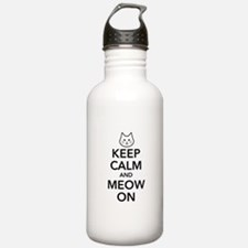 Keep Calm and Meow On Water Bottle