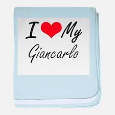 I Love My Giancarlo baby blanket