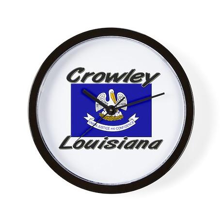 Crowley Louisiana Wall Clock