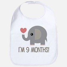 9 Month Old Announcement Bib