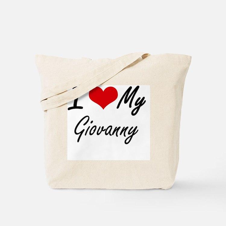 I Love My Giovanny Tote Bag