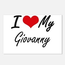I Love My Giovanny Postcards (Package of 8)