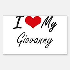 I Love My Giovanny Decal