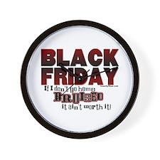 Black Friday Bruised Wall Clock