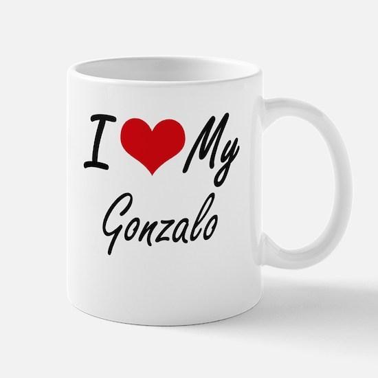 I Love My Gonzalo Mugs