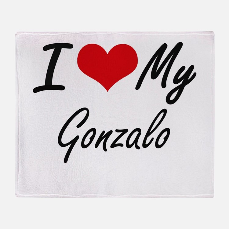 I Love My Gonzalo Throw Blanket