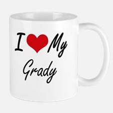 I Love My Grady Mugs