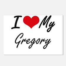 I Love My Gregory Postcards (Package of 8)