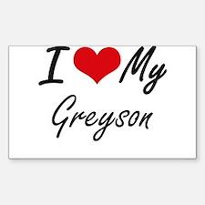 I Love My Greyson Decal