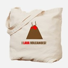 Funny volcanoes Tote Bag