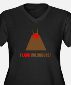 Funny volcanoes Plus Size T-Shirt