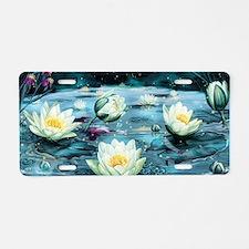 Lotus Pond Aluminum License Plate
