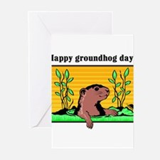 Unique Groundhog day Greeting Cards (Pk of 20)