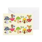 Magic Mushroom Art Greeting Cards (Pk of 10)