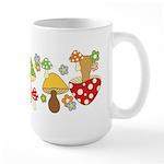Magic Mushroom Art Large Mug (15 oz)