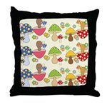 Magic Mushroom Art Throw Pillow