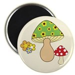 "Magic Mushroom Art 2.25"" Magnet (10 pack)"