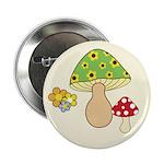 "Magic Mushroom Art 2.25"" Button (10 pack)"