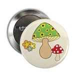 "Magic Mushroom Art 2.25"" Button (100 pack)"