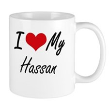 I Love My Hassan Mugs