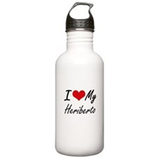 I Love My Heriberto Water Bottle