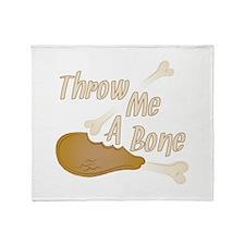 Throw Me Bone Throw Blanket
