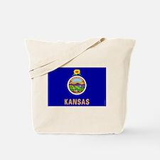 Kansas State Flag 2 Tote Bag