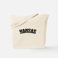 Kansas Jersey Font Tote Bag