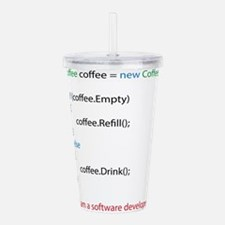 Everyone needs coffee Acrylic Double-wall Tumbler