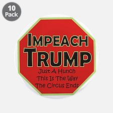 """Impeach Trump 3.5"""" Button (10 pack)"""