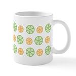 Orange & Lime Citrus Ceramic Coffee Mug