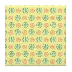 Orange & Lime Citrus Tile Drink Coaster