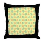 Orange & Lime Citrus Throw Pillow