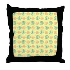 Orange & Lime Citrus Throw Pillow