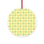 Orange & Lime Citrus Ornament (Round)