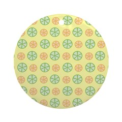 Orange & Lime Citrus Ornament (Round)