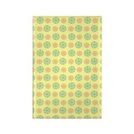 Orange & Lime Citrus Rectangle Magnet (100 pack)