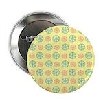 """Orange & Lime Citrus 2.25"""" Button (10 pack)"""