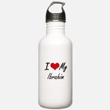 I Love My Ibrahim Water Bottle