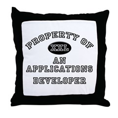 Property of an Applications Developer Throw Pillow