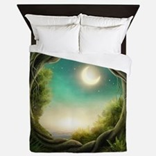 Magic Moon Tree Queen Duvet