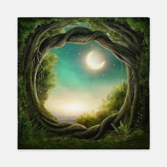 Magic Moon Tree Queen Duvet