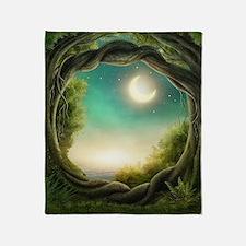 Magic Moon Tree Throw Blanket