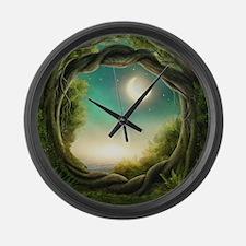 Magic Moon Tree Large Wall Clock