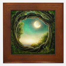 Magic Moon Tree Framed Tile