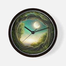 Magic Moon Tree Wall Clock