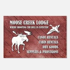 MOOSE CREEK LODGE Postcards (Package of 8)
