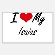 I Love My Isaias Decal