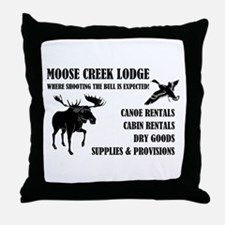 MOOSE CREEK LODGE Throw Pillow