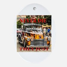 Funny Chevy Oval Ornament